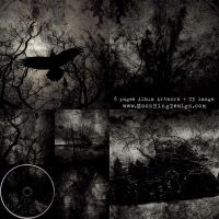 Kirkebrann Black Metal Norway full CD album cover by MOONRINGDESIGN