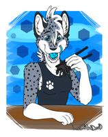 Sushi wolf by LeoOfTheDeaD