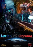 Lucian vs Shyvana (Mecha vs Monster) by Huntermanx