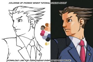 Phoenix Wright Coloring by HowToDrawManga3D