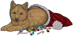 FOR SALE Christmas Pup AND Halloween version! by Okamay
