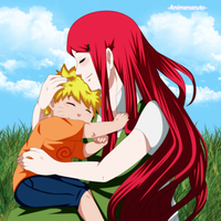 Kushina y Naruto by iFeerGirl