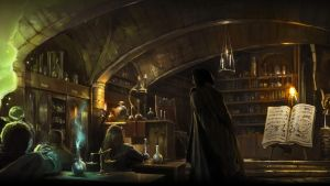 Pottermore Background: Potions Class by xxtayce