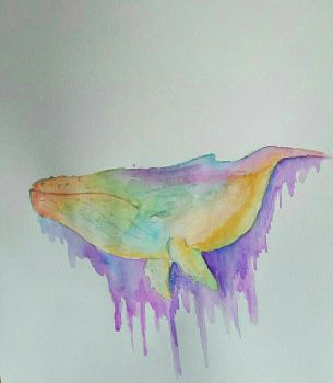 drippy whale by suicidal-sloth