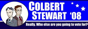 Colbert Stewart 08 Sticker by Saturn-Kitty