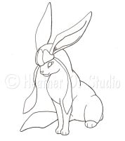 Glaceon Outline WIP by stormwhisper02
