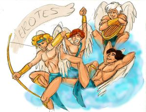 Aphrodite's Boys the Erotes