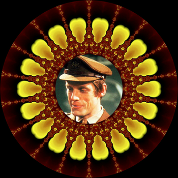 Decorative Plate - Doctor Who - Capt. Mike Yates by FlyingMatthew