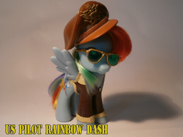 WW2 pilot rainbow dash custom by caramelpony