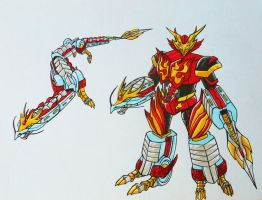 ONIRANGERS part 3: ONI DRANGON armament by kishiaku