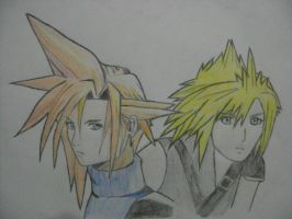 Cloud Strife-Before and After by relentlessrevolver