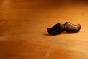 Gentleman Moustache Pin by OcularFracture
