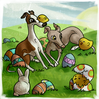 Chicks and Bunnies and Iggies by tuketi