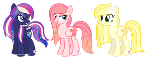 Three OC's by SugarMoonPonyArtist