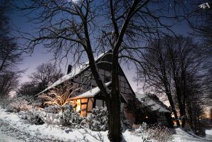 cold winter night by hermik