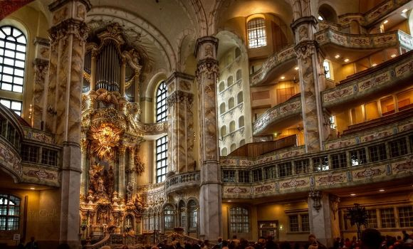 Interior view of the Frauenkirche I by pingallery