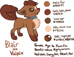 Blair the Vulpix (OC Refsheet) by Angiebutt