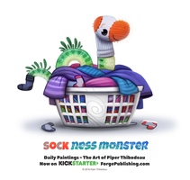 Daily 1364. Sock Ness Monster by Cryptid-Creations