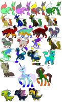 huge left over adopt sale (All Open) by dragons011