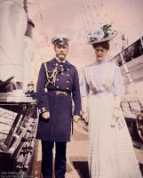 The Imperial Couple at the Standart by TsarinaAlix