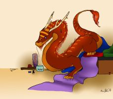 Haberdasher Dragon by Picatso1
