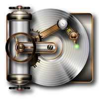 Steampunk cd player by IllustratorG