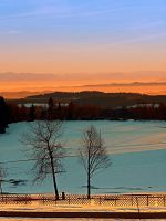 Colorful winter wonderland sundown VI by patrickjobst