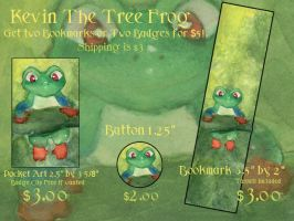 Kevin the Tree Frog Stuff by Starrydance