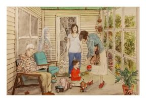 Grandparents Porch - an almost self portrait by gypsysnail
