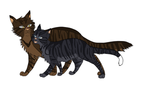 Tigerclaw and Ryestem by senely