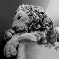 Study of Chatsworth House Lion by rghayati