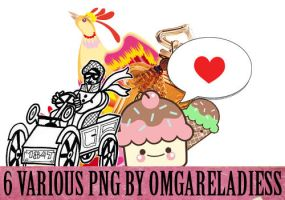 6 various png by omgareladiess