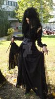 Bellatrix Lestrange Costume - Finished by snowyblackrose