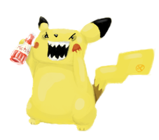 pikachu wants your ketchup by loglog5