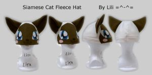 Siamese Cat Hat by LiliNeko