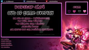 Free Out of Game overlay Popstar Ahri by Kireaki