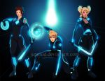 NaruTemaTen: Tron Grid Ninjas (Full-Version) by JuPMod