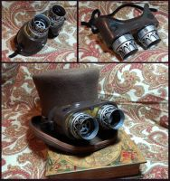 OTG (Over the Glasses) Steampunk Goggles by CaelynTek