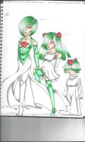 Gardevior family (humanized!) by AnimeShark