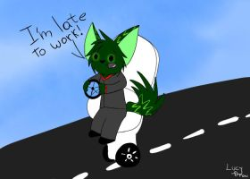 I'm late! (Scribble) by LucyDraw