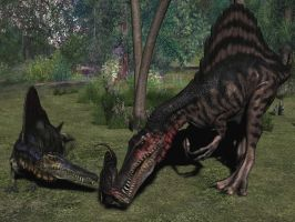 Spinosaur Family by Spino2006