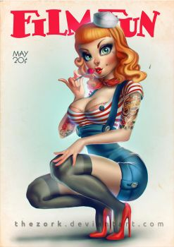 TrinquetteChallenge - pin up by thezork