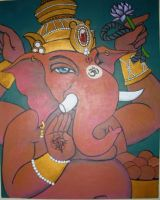 Ganesha painting from a few years ago... by AspenTurner