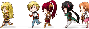 [ RWBY ] Run, RWBY Casts !! [ Chibi ] by Shizumii-Kaii