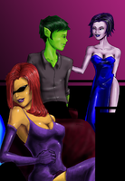 Teen Titans Clubbing by justchrishere