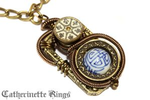 Steampunk Oriental Victorian Pendant by CatherinetteRings