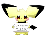 Chubby Pichu Commissions by Alvro