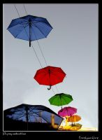 Flying umbrellas 1 by kos5tas
