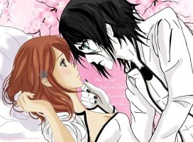 Ulquiorra and Orhime - I Want You by LibertyBella