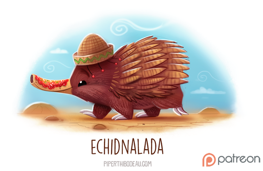 Daily Paint 1526. Echidnalada by Cryptid-Creations